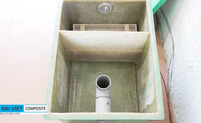 cấu tao chi tiết của bể tách dầu mỡ