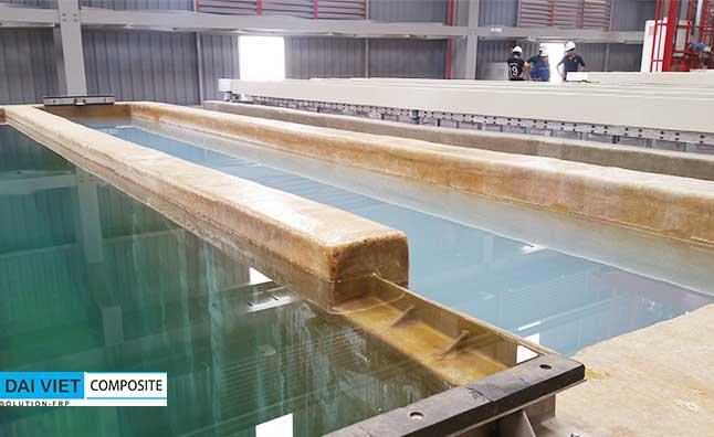 bọc phủ chống thấm composite FRP cho dây chuyền xi mạ kim loại