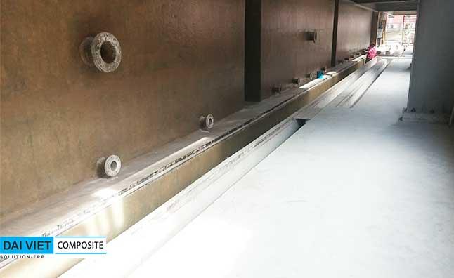 bọc phủ chống thấm composite mương chứa hóa chất