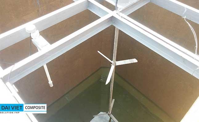 bọc phủ bể khấy trộn hóa chất xử lý nước thải