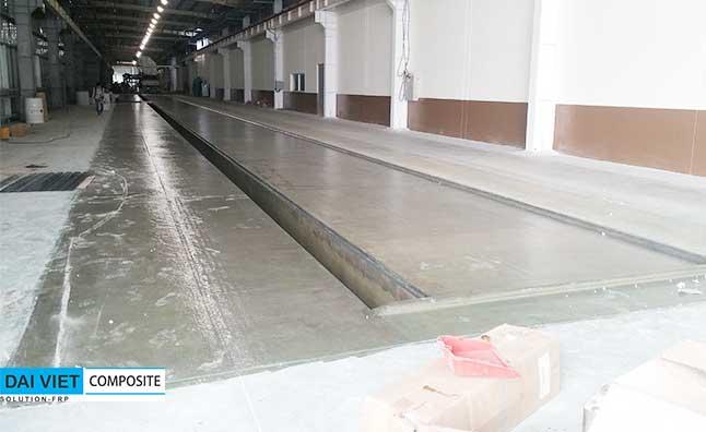 bọc phủ composite FRP cho nền nhà xưởng hóa chất