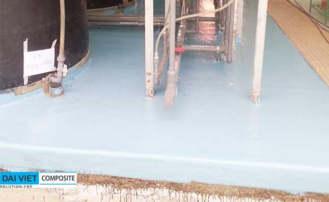 bọc phủ composite nền khu vực chứa hóa chất