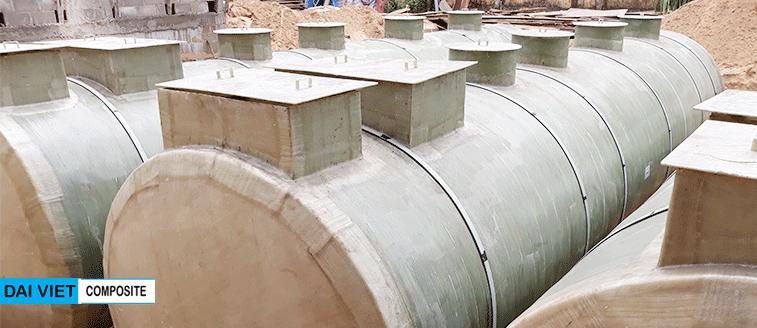 bồn xử lý nước thải composite hợp khối