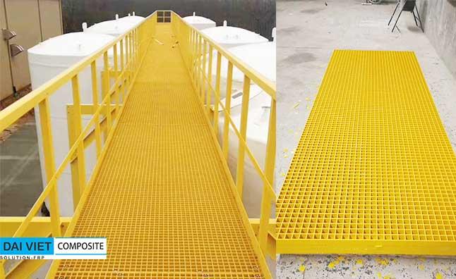 sàn và lan can composite FRP