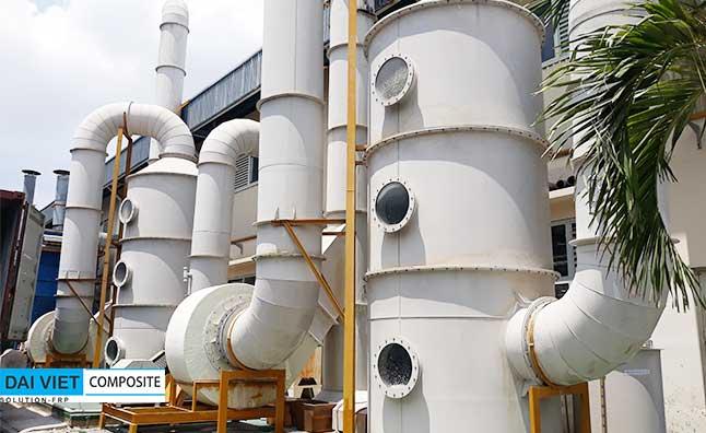 tháp xử lý khí thải composite FRP